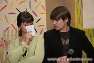 Актеры Сергей и Елена во время интервью.